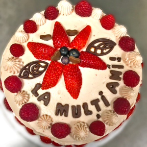 We make birthday cakes with fruit and lovely frosting - order a cake now, we deliver in Cardiff!