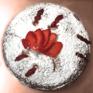 Sugar powdered sponge cake! Order a cake now, we deliver in Cardiff!