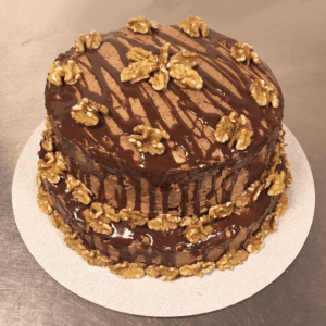 Walnuts and chocolate cake! Order a cake now, we deliver in Cardiff!